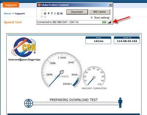 Speed test pada cbn.net.id menggunakan IM2 Broom